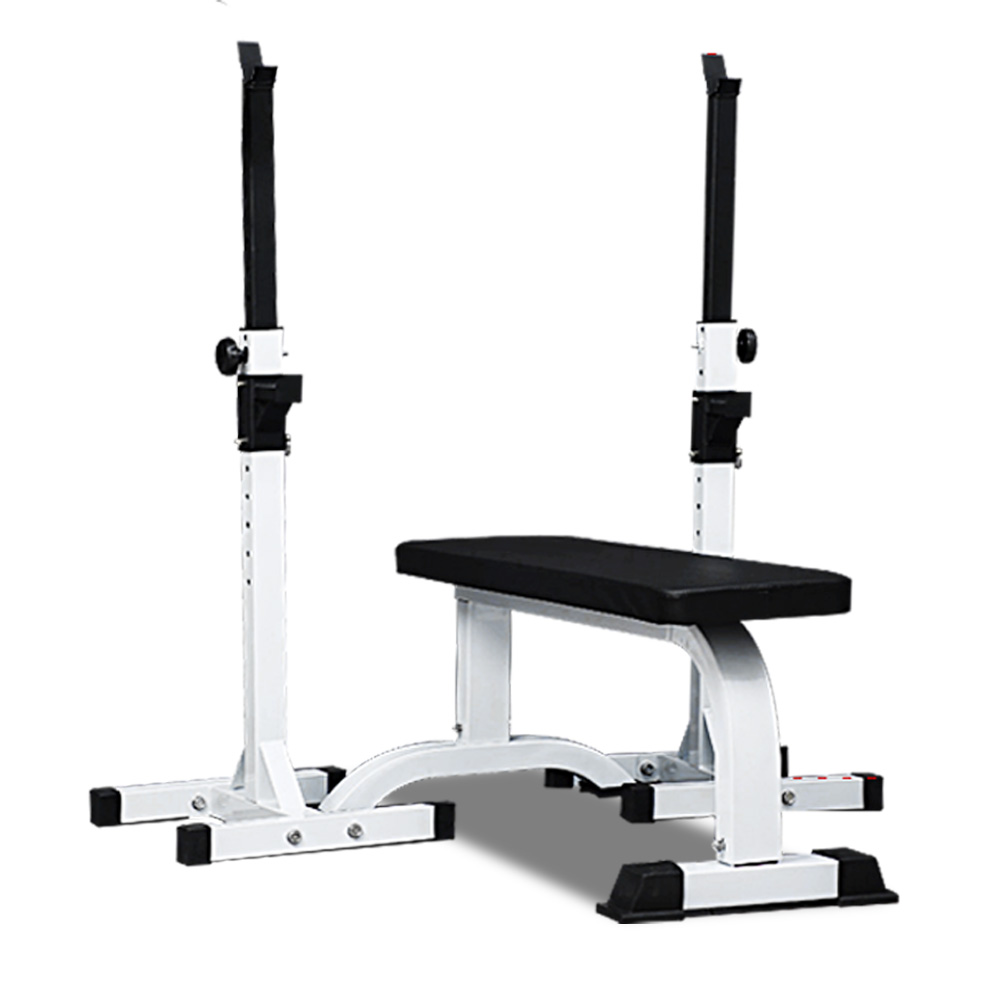 JMQ Fitness RBT305 Flat Bench & Barbell Squat Rack Set