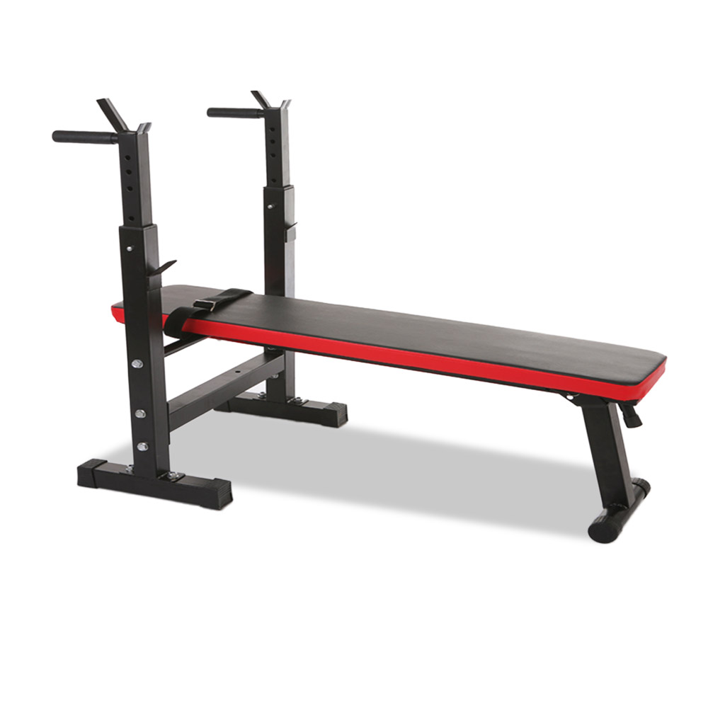 RBT309 Foldable Weight Bench Press Barbell Squat Rack